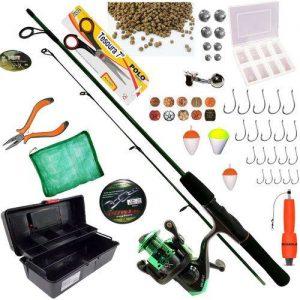 kit de pesca completo presente de pescador para o dia dos pais