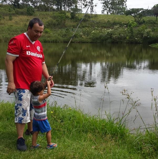 como fazer meu filho gostar de pescar