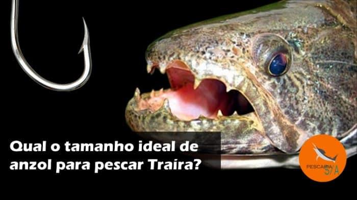qual o tamanho ideal de anzol para pescar traíra? Veja nossas dicas