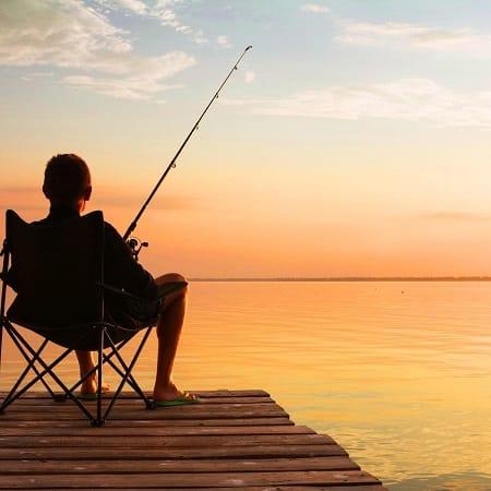 siêncio ao pescar é fundamental