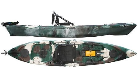 caiaque de pesca caiman 125 hidro2eko