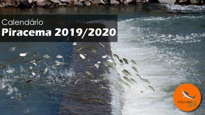 quando fecha a pesca em 2019 calendário piracema 2019/2020