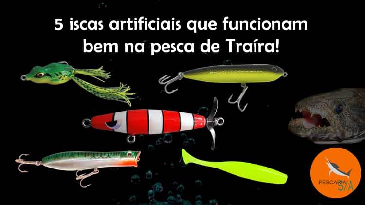 5 iscas artificiais que funcionam bem na pesca de Traíra