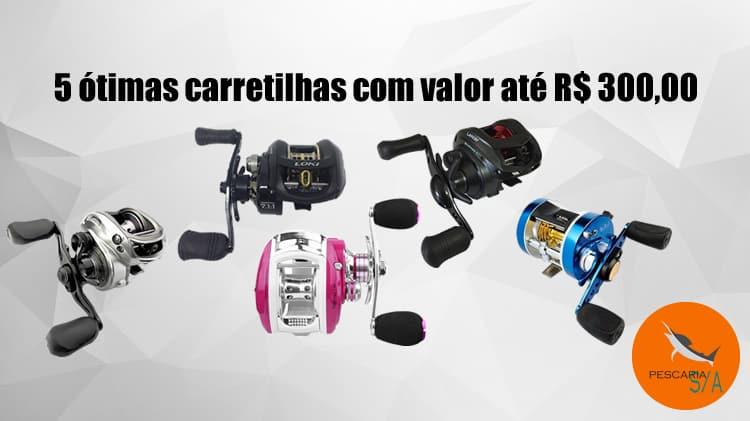5 ótimas carretilhas com valor até 300 reais