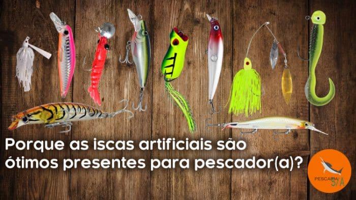 porque as iscas artificiais são ótimos presentes para pescador(a)