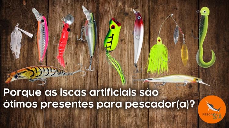 Porque as iscas artificiais são ótimos presentes para pescador(a)?