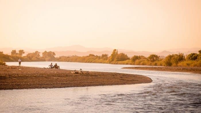 pescaria de rio corredeiras