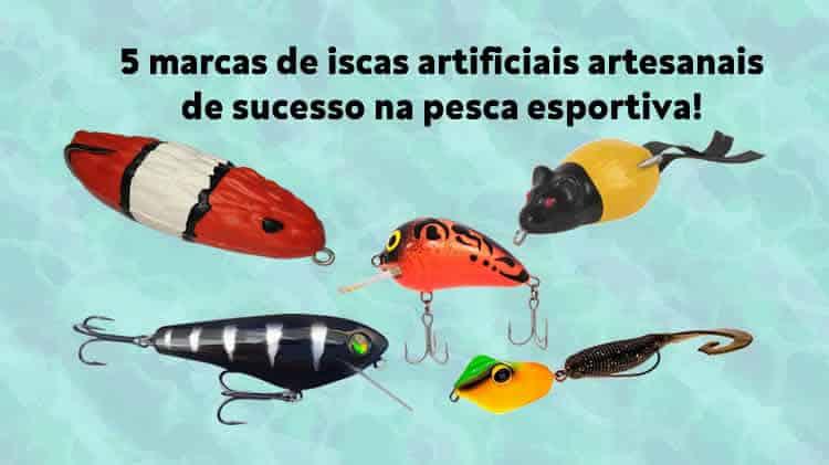 5 marcas de iscas artificiais artesanais de sucesso
