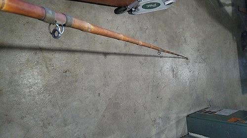 vara de bambu para carretilha molinete  tralhas de pesca antigas