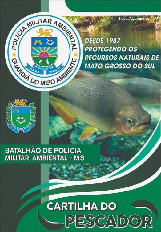capa cartilha do pescador 2021 polícia ambiental do ms